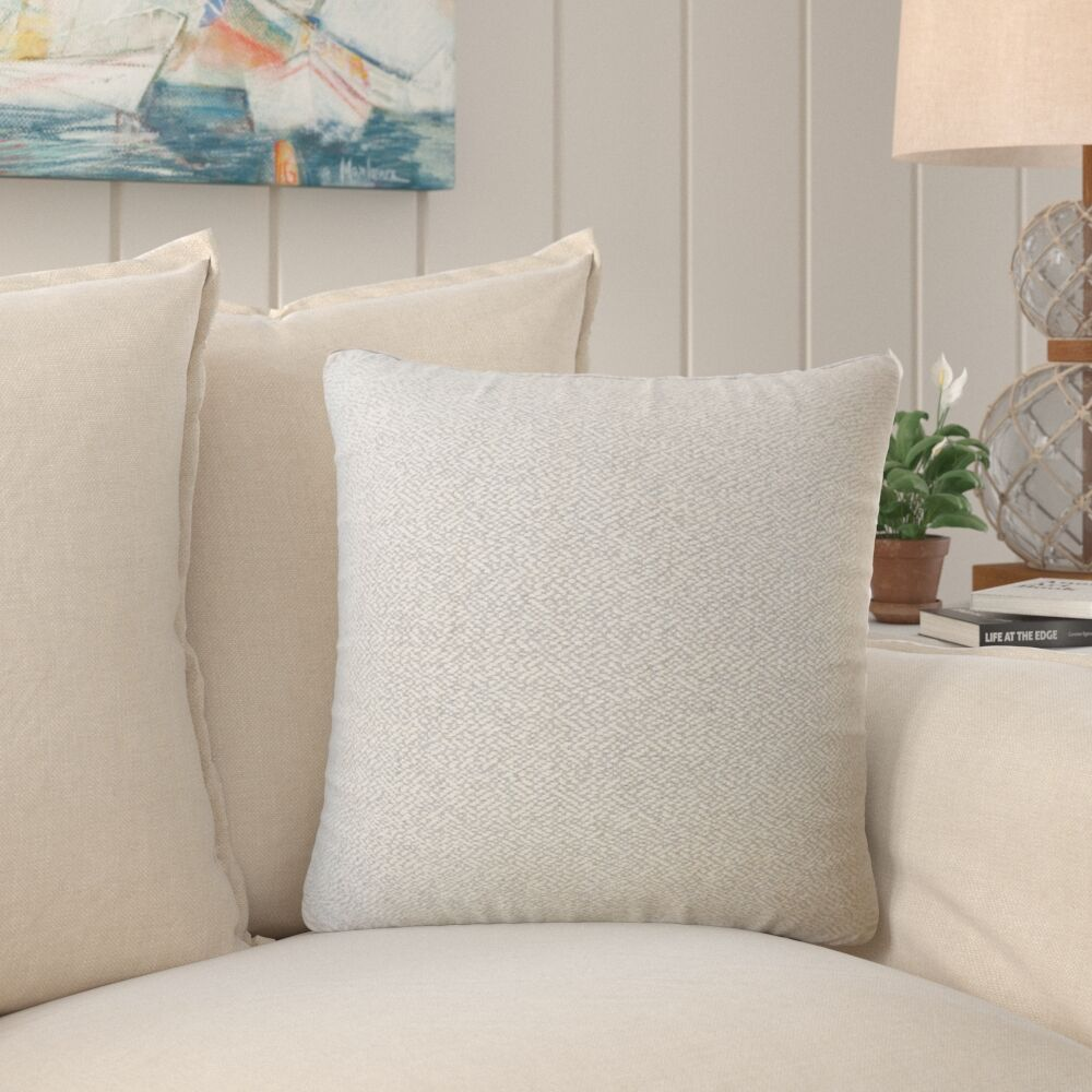 Evansville Solid Down Filled Throw Pillow Size: 22