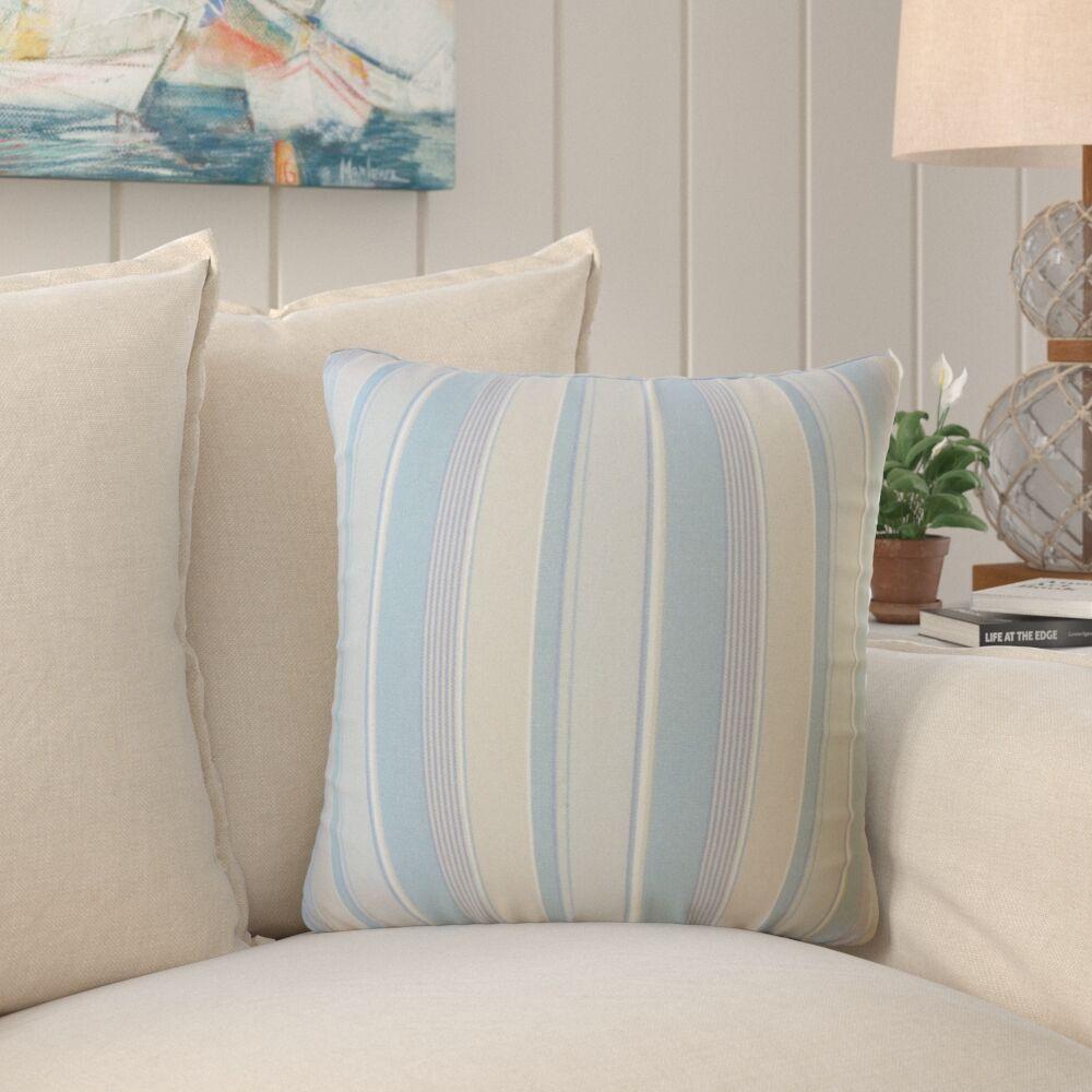 Bowdoinham Striped Down Filled 100% Cotton Throw Pillow Size: 18