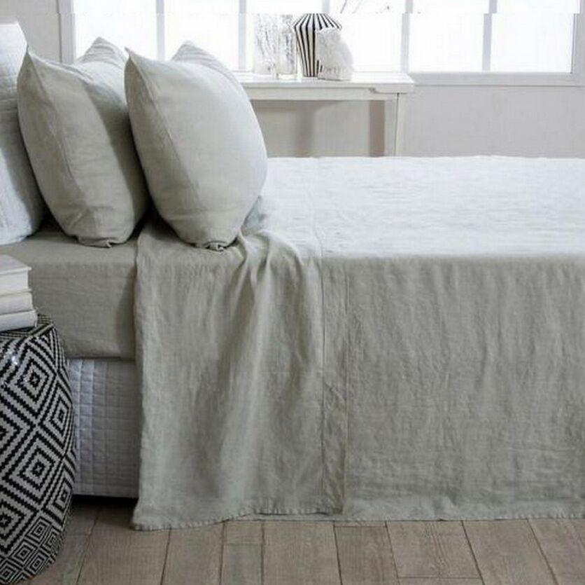 Ronny 3 Piece Linen Sheet Set Color: Gray