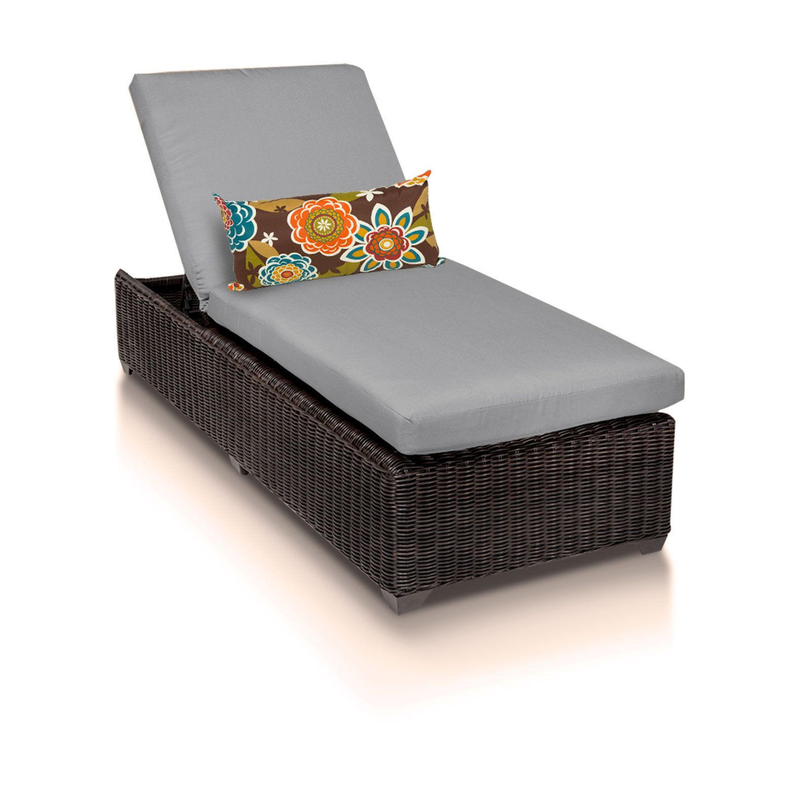 Eldredge Chaise Lounge with Cushion Color: Gray