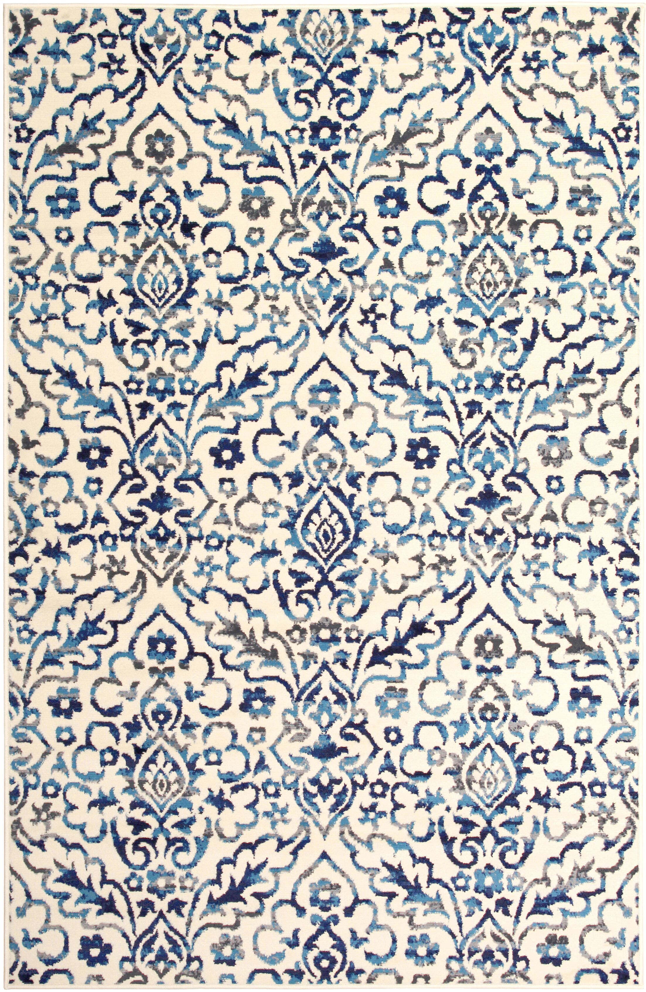 Bonner White/Blue Area Rug Rug Size: Rectangle 5' x 8'