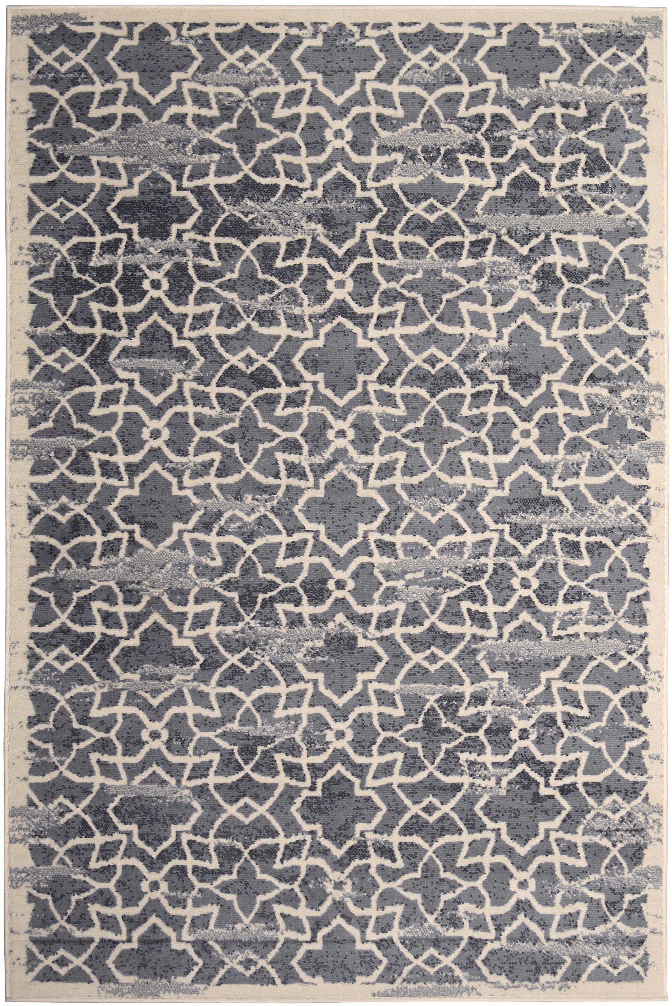 Bonner Gray/Cream Area Rug Rug Size: Rectangle 5' x 8'