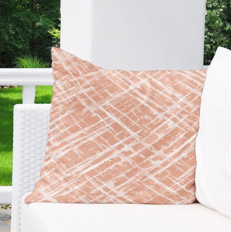 Watercolor Criss Cross Indoor/Outdoor Euro Pillow Color: Orange