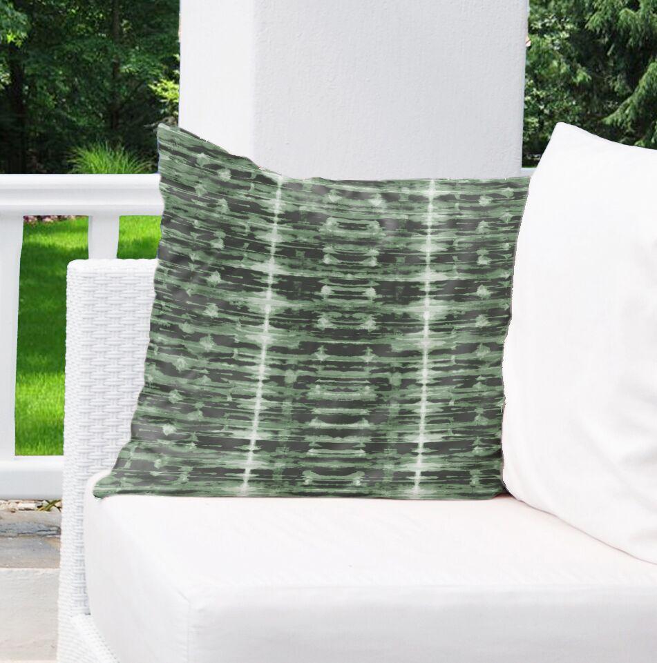 Xray Shibori Indoor/Outdoor Euro Pillow Color: Green/White
