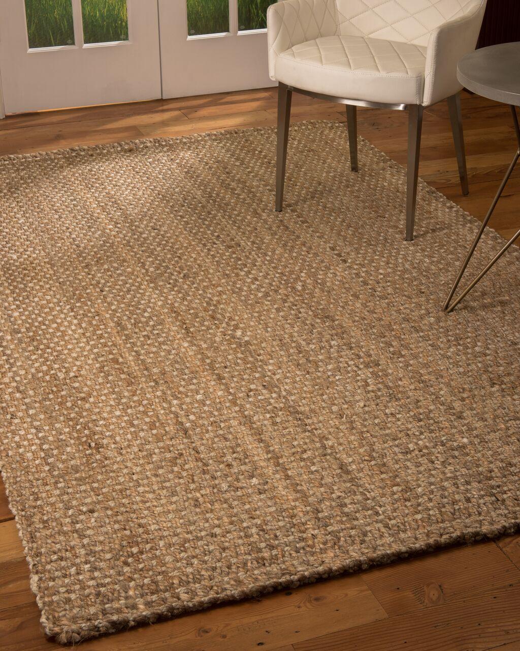 Modbury Hand-Loomed Brown Area Rug Rug Size: Rectangle 5' x 8'