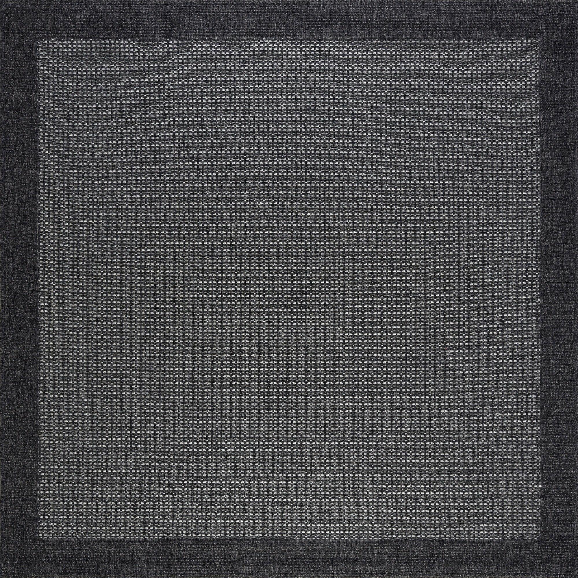 Felipe Black Indoor/Outdoor Area Rug Rug Size: Square 5'1'' x 5'2''