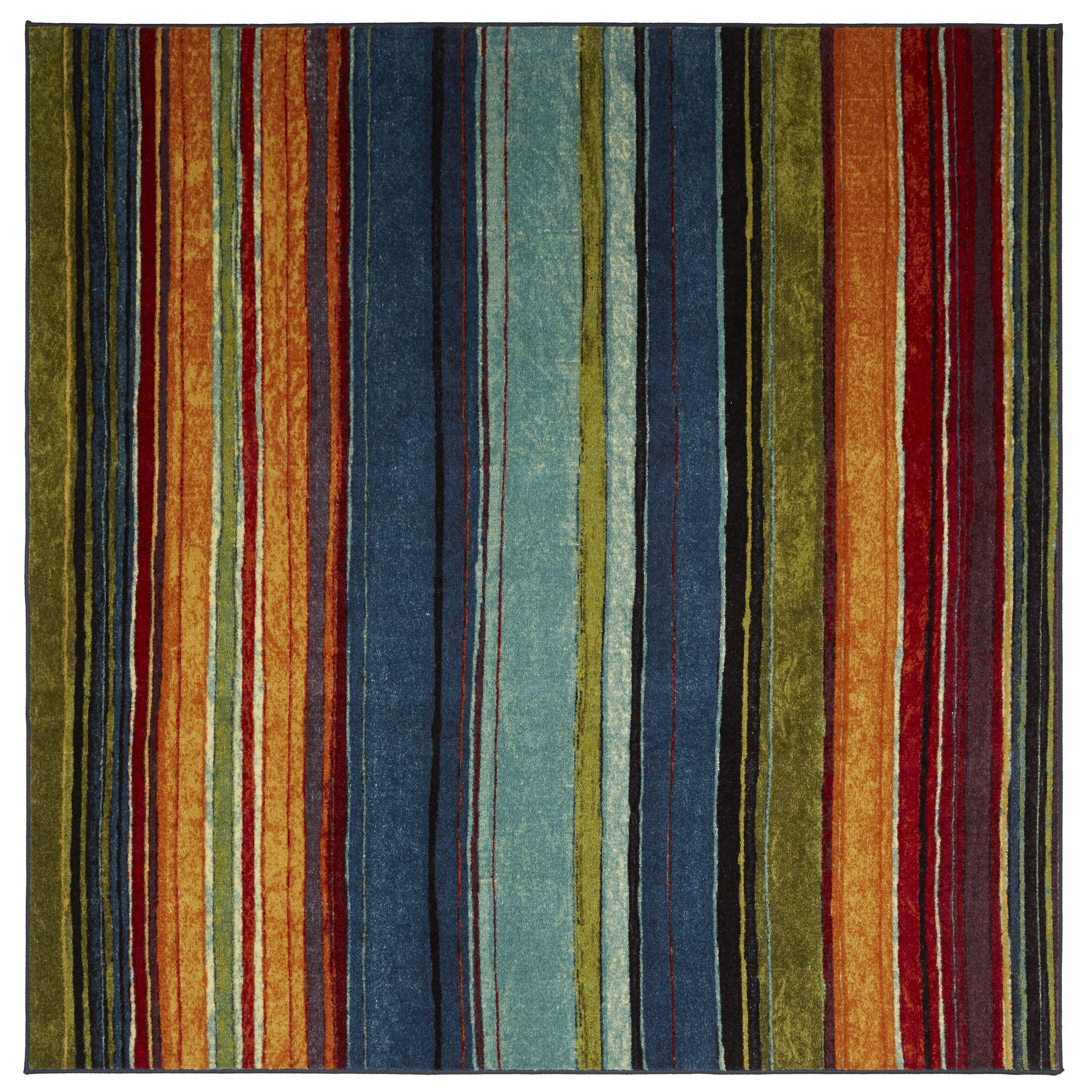 Bartlett Las Cazuela Blue/Orange Area Rug Rug Size: Rectangle 10'x14'