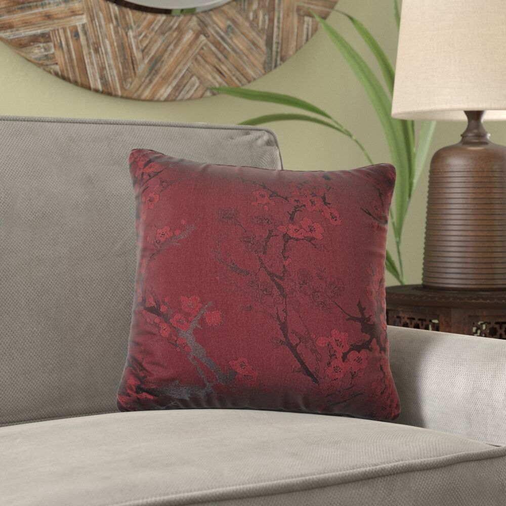 Bryant Throw Pillow Color: Brick, Size: 26