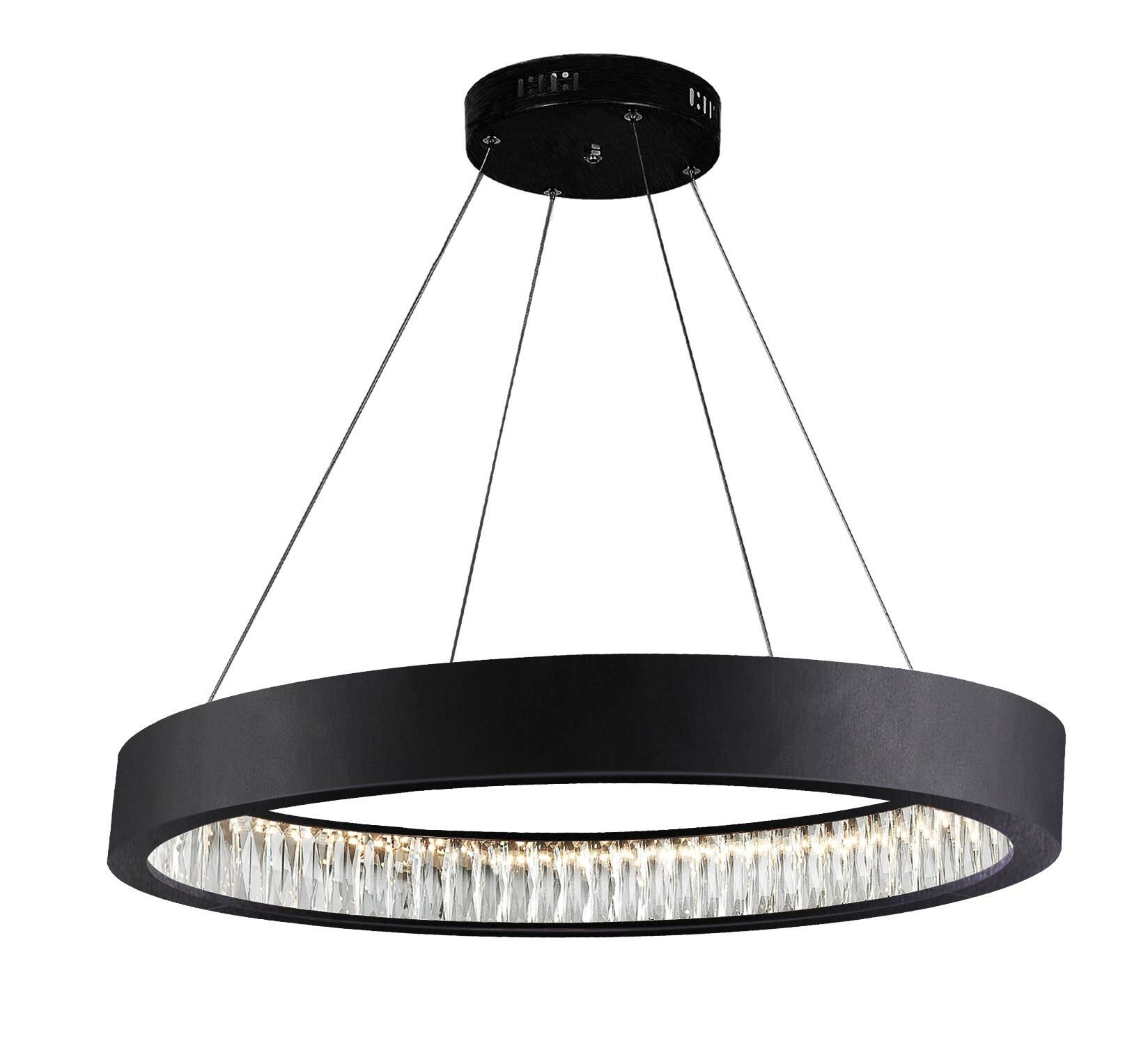 Rosalina 1-Light LED Drum Pendant Size: 3
