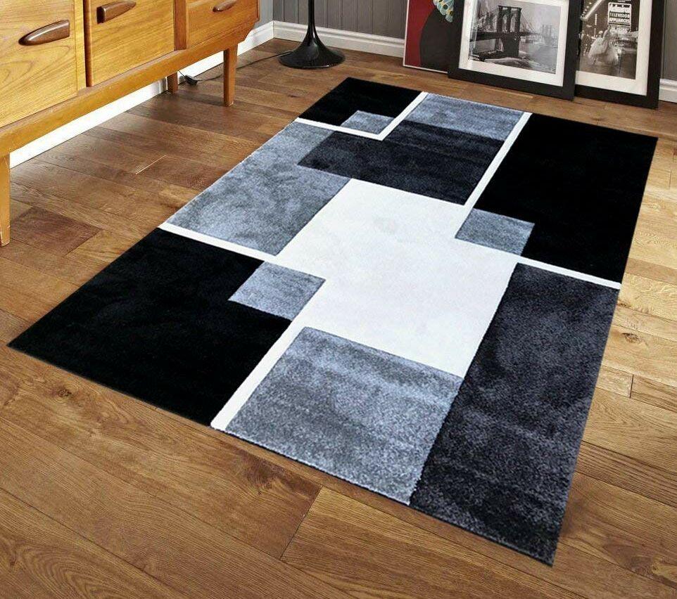 Speller Luxury Black/Gray Area Rug Rug Size: Rectangle 8' x 10'