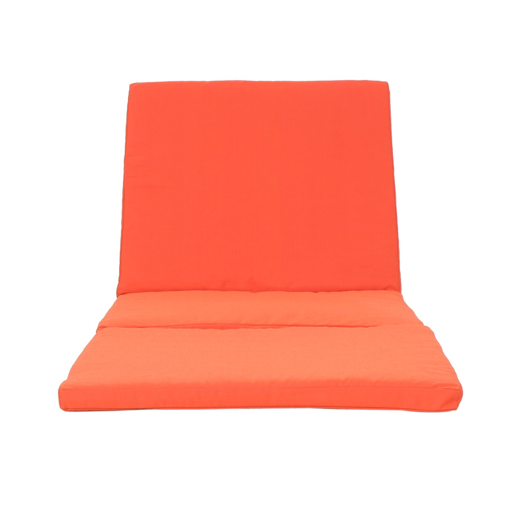 Outdoor Chaise Lounge Cushion Fabric: Orange