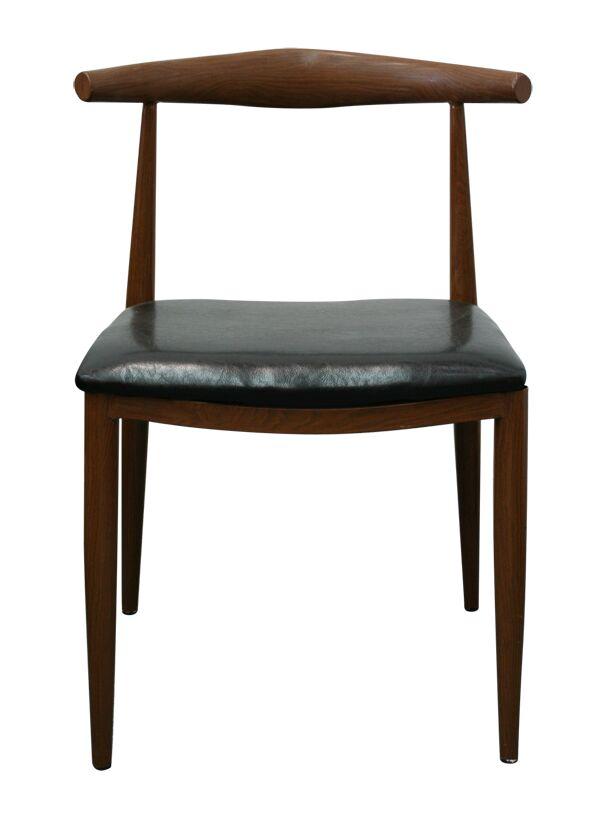 Bugg Steel Dining Chair Color: Dark Walnut
