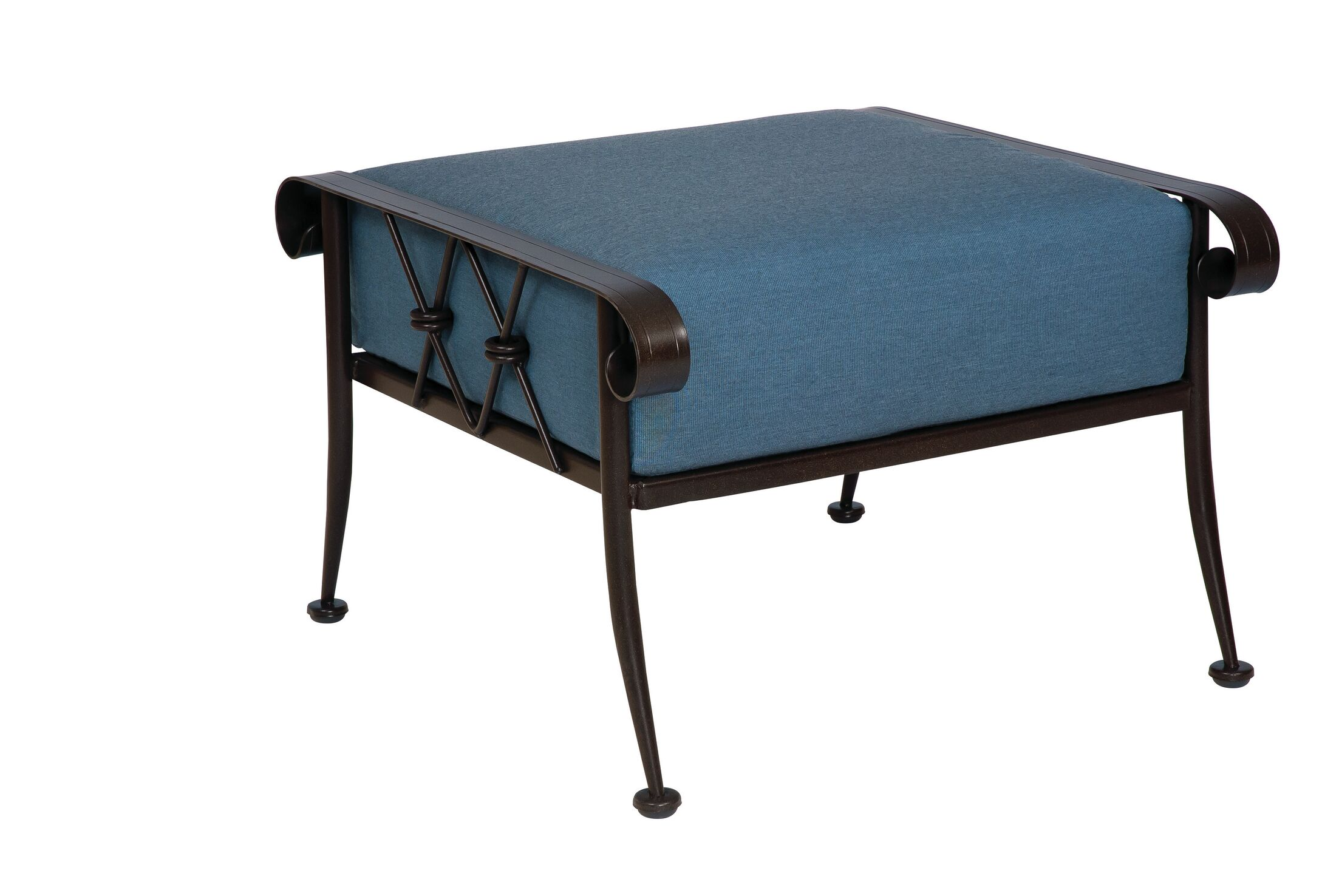 Derby Ottoman With Cushion Color: Canvas Parrot