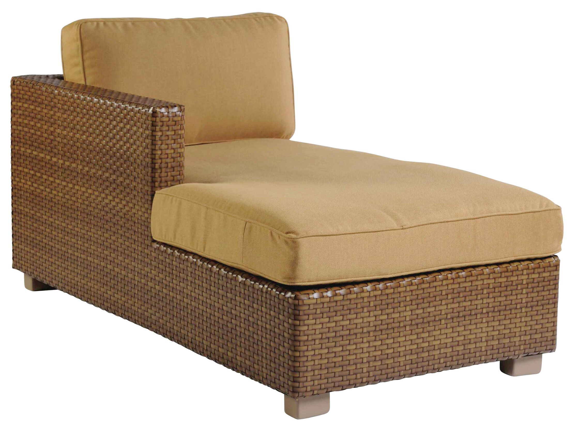 Sedona Left Arm Facing Chaise Lounge with Cushion Color: Summit Peony