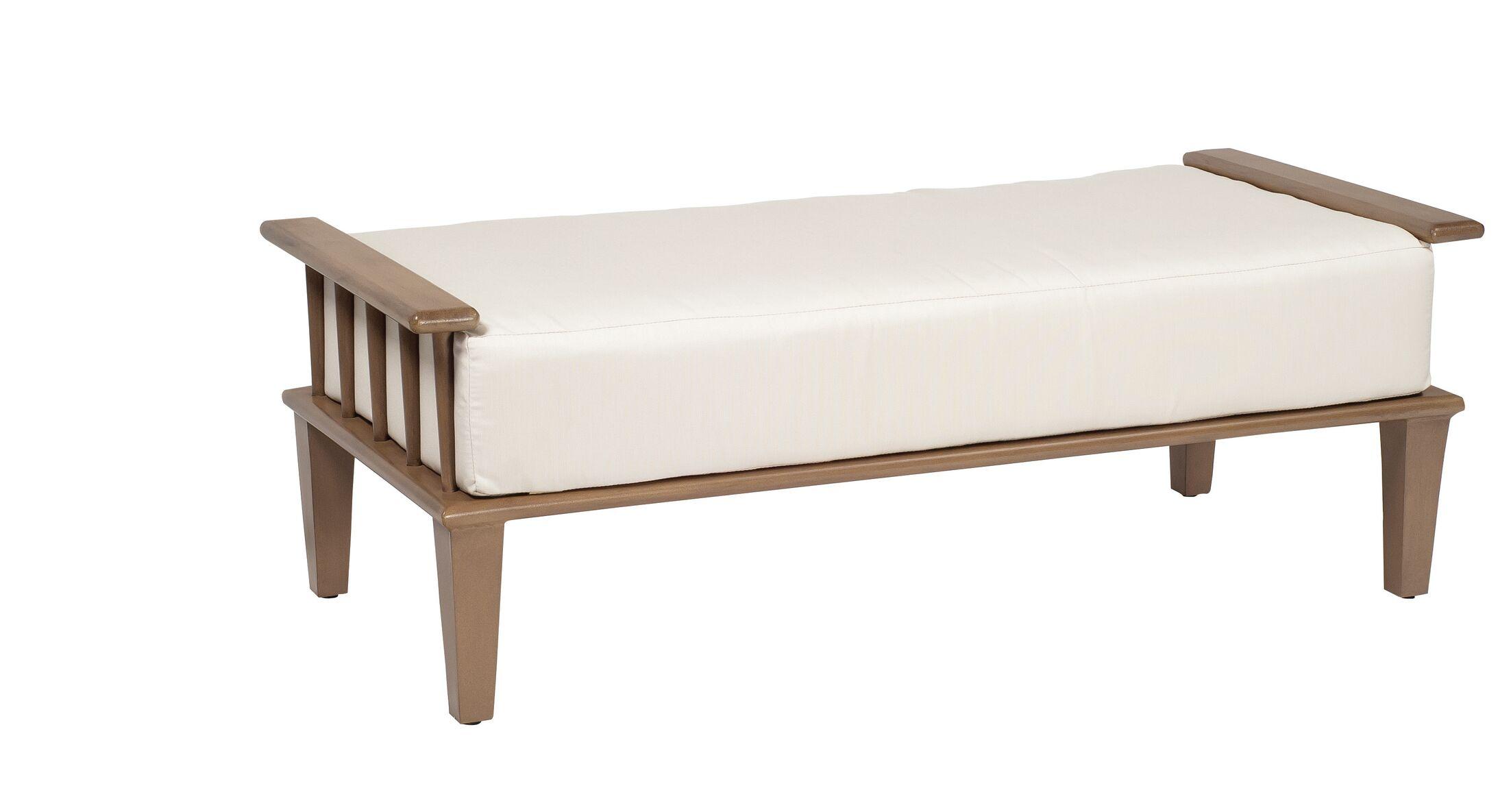 Van Dyke Ottoman and a Half with Cushion Fabric: Fairmount