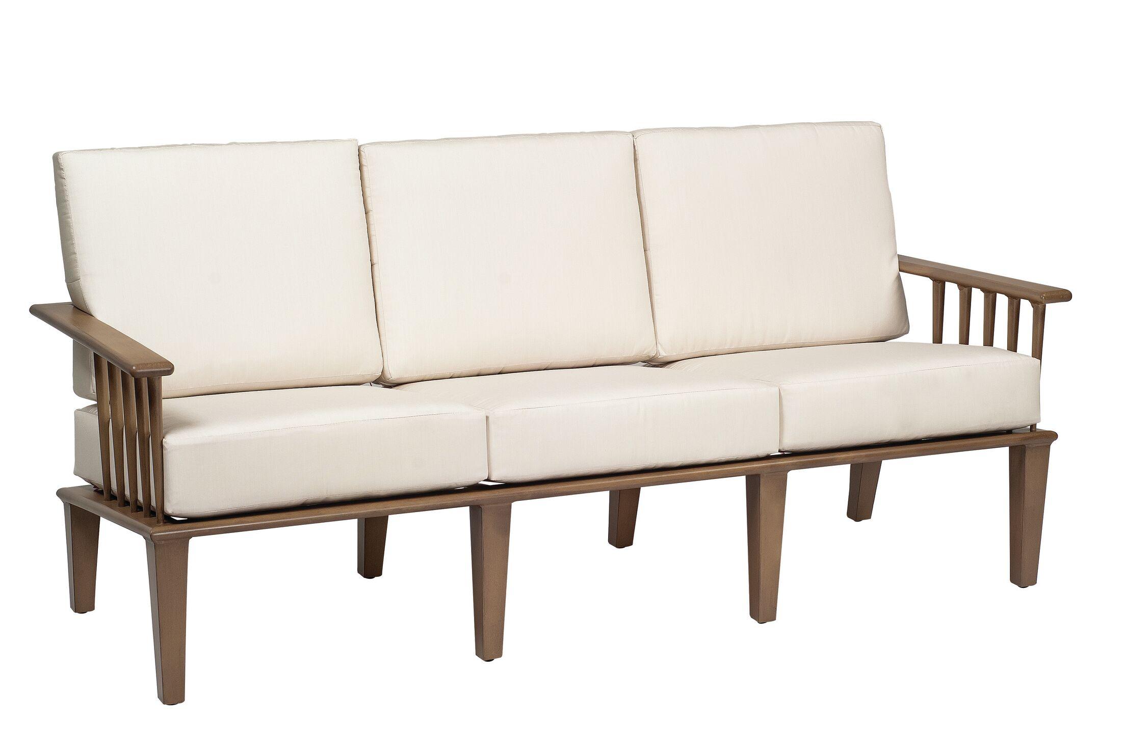 Van Dyke Sofa with Cushions Fabric: Canvas Chestnut