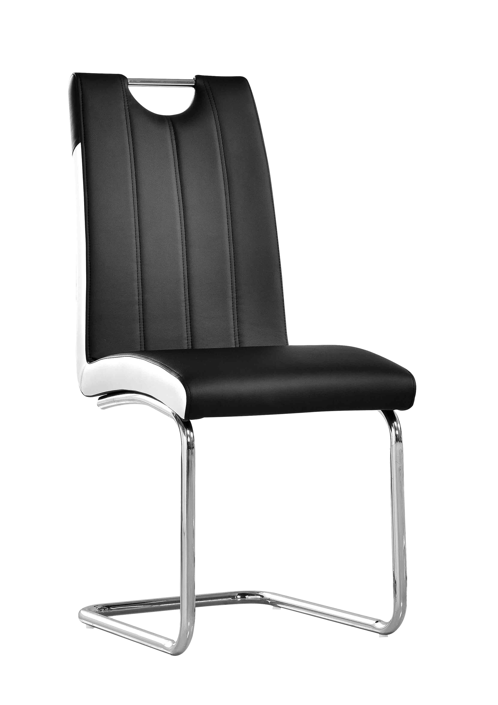 Stallings Upholstered Dining Chair Finish: Black