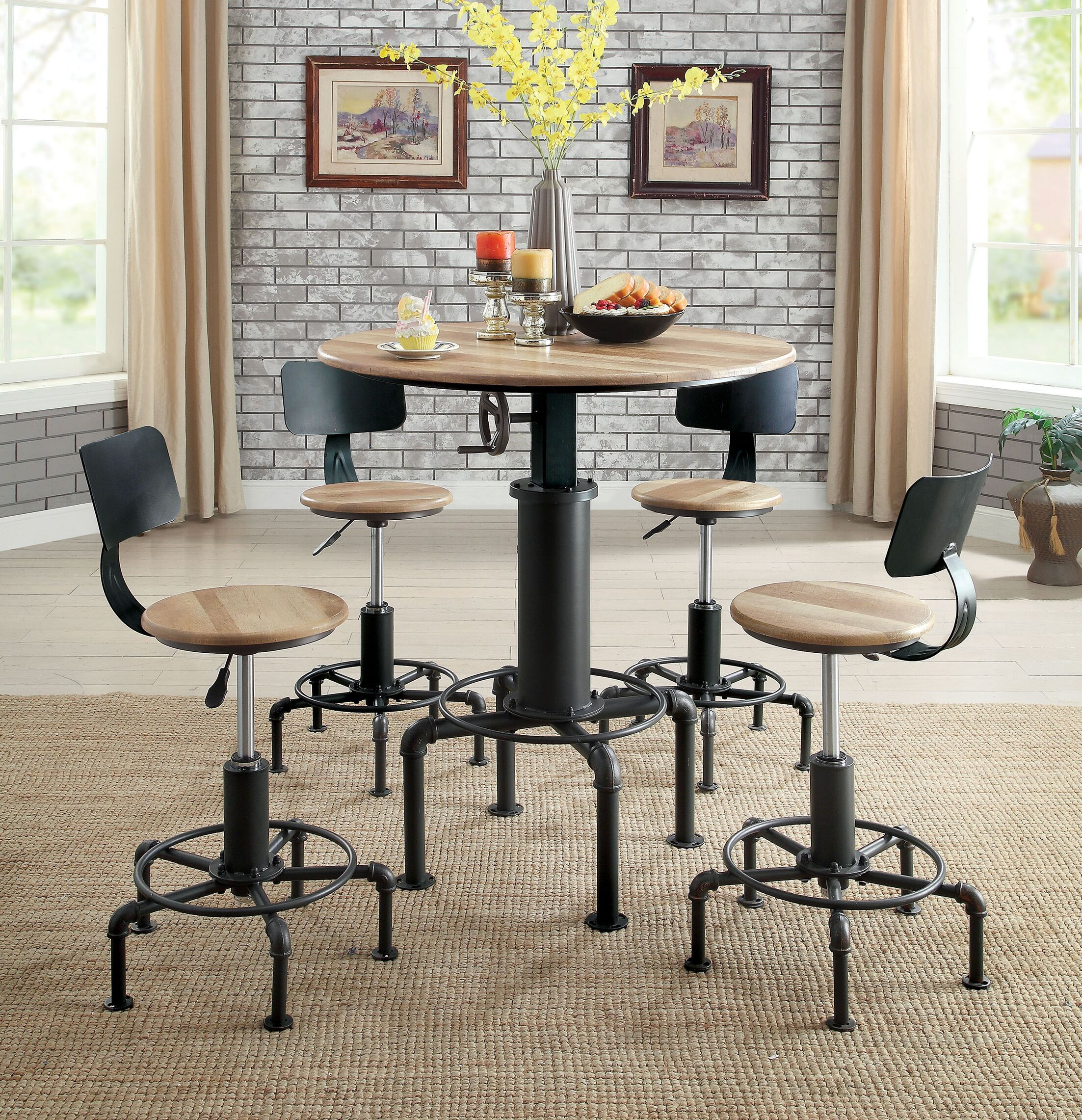 Goldie Adjustable Pub Table