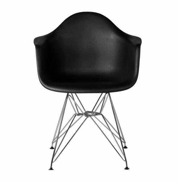 Ethan Arm Chair Color: Black