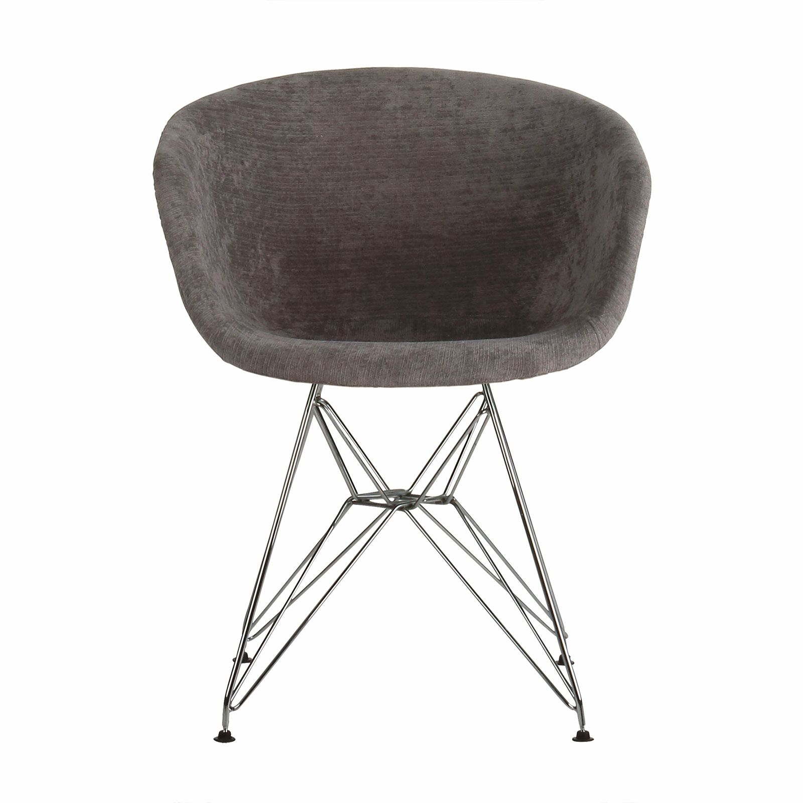 Barrette Upholstered Dining Chair Upholstery Color: Dark Gray