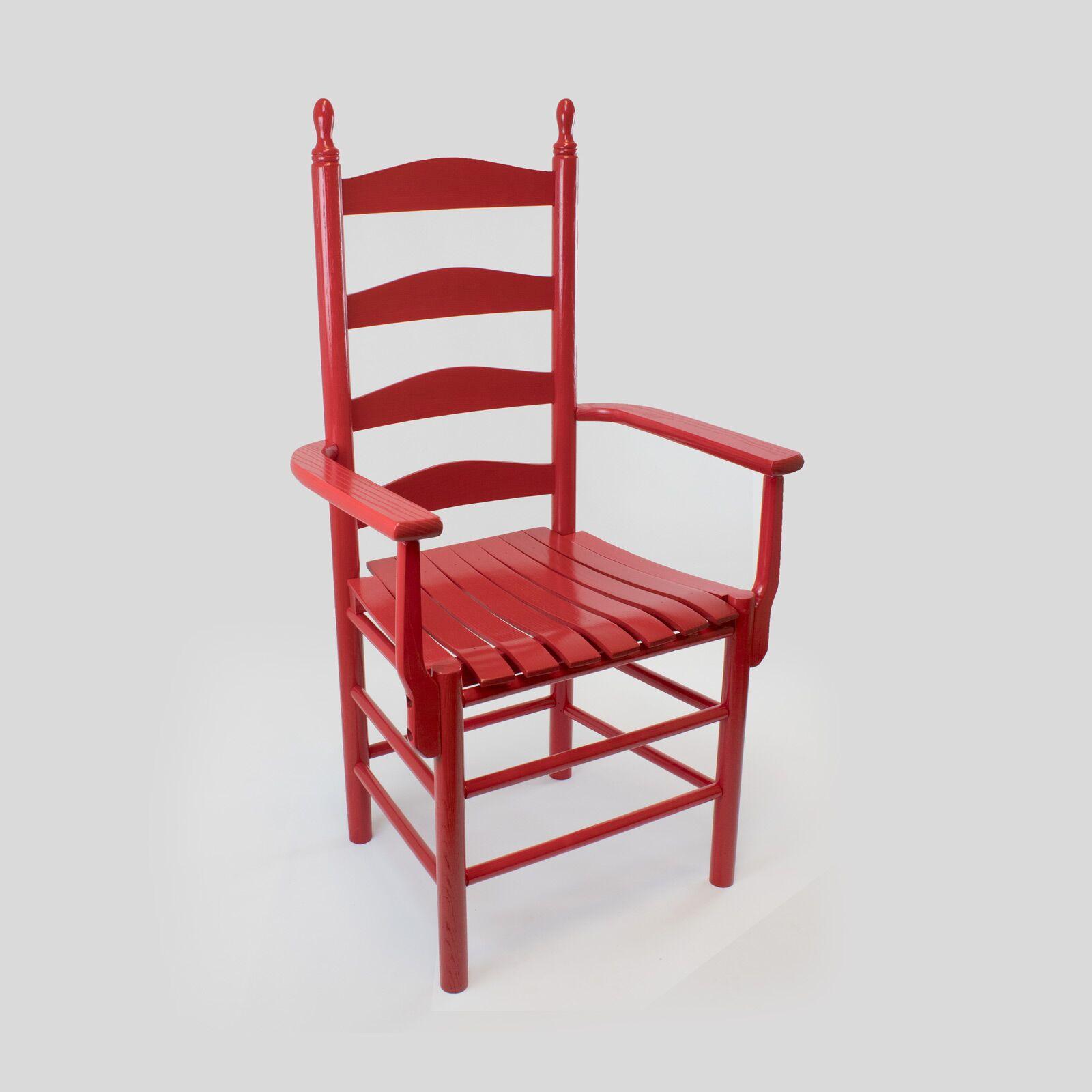 Sylvester Ladderback Solid Wood Dining Chair Color: Woodleaf White