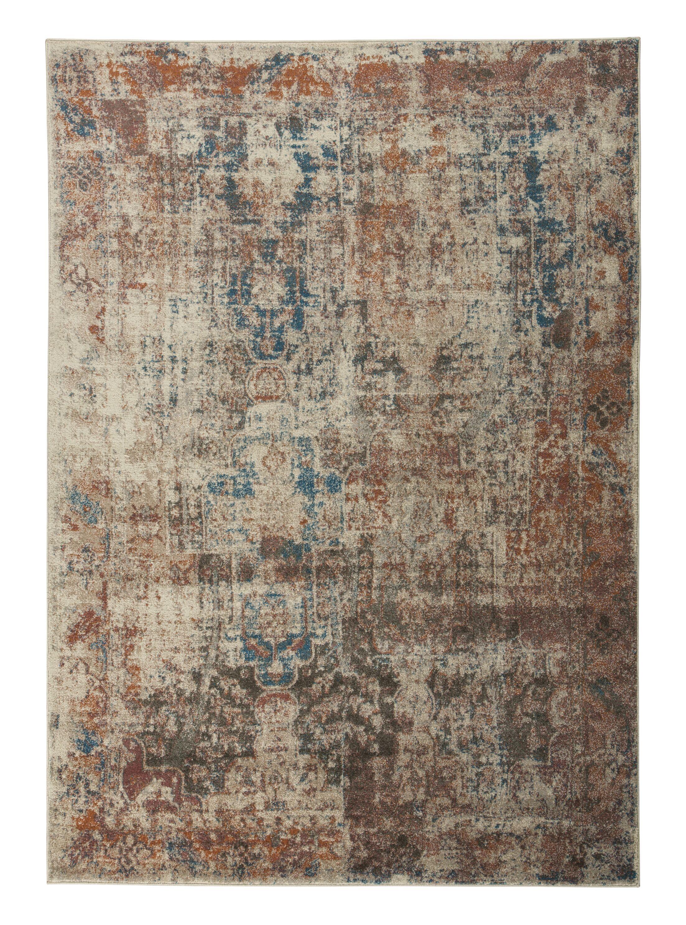 Hedley Rust/Blue Area Rug Rug Size: 7'10