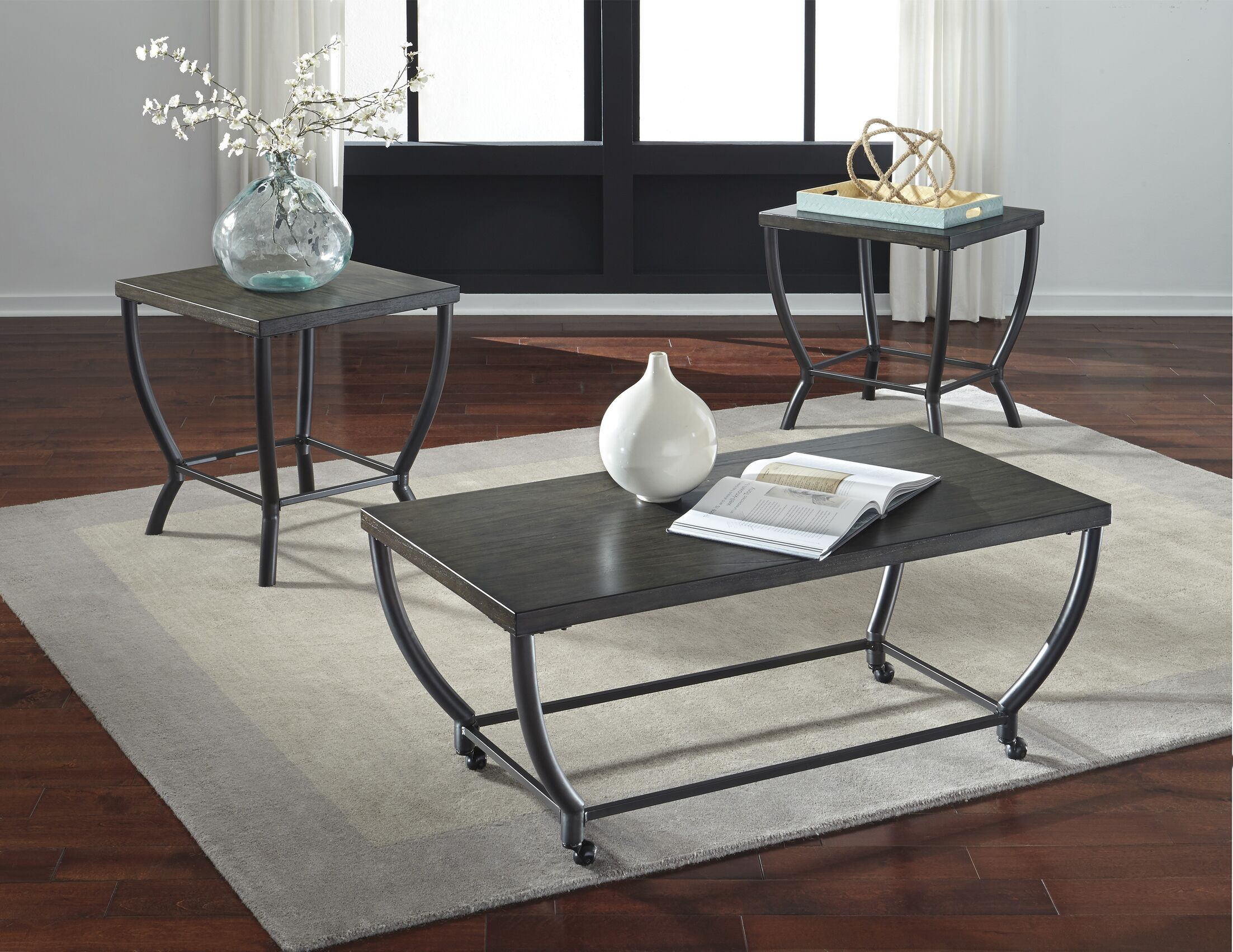Isik 3 Piece Coffee Table Set
