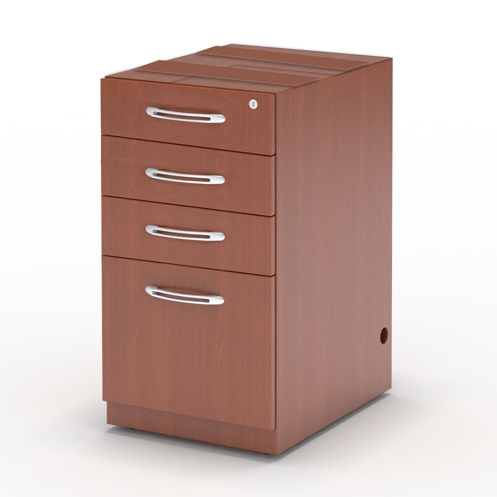 Aberdeen Desk File Pedestal Finish: Cherry, Size: 27.5