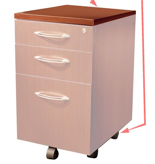 Aberdeen Desk File Pedestal Finish: Cherry