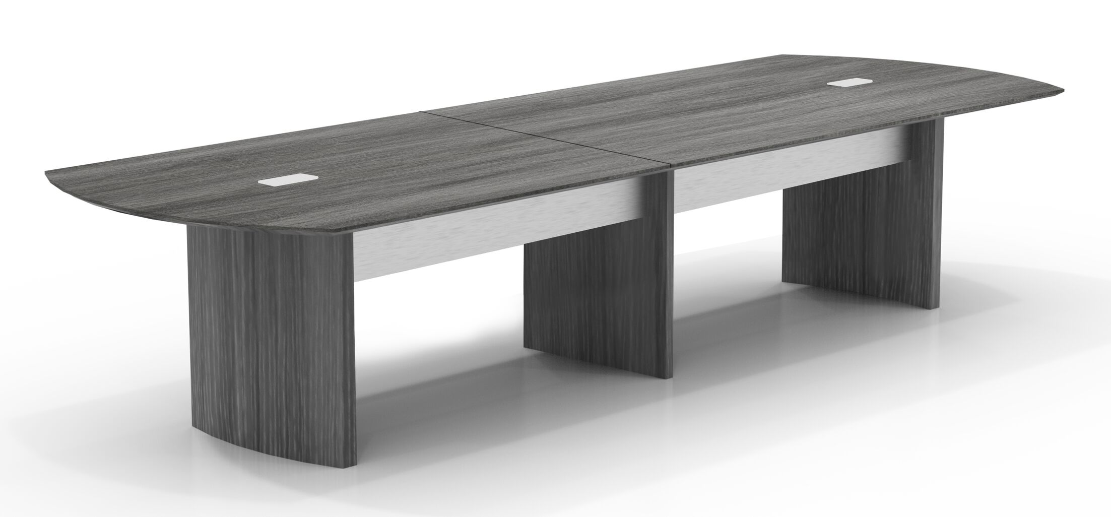Medina Curved End Conference Table Finish: Gray Steel, Size: 29.5