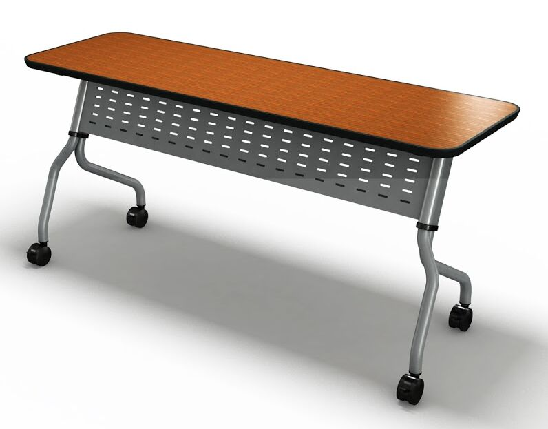 Sync Training Table with Modesty Panel Tabletop Finish: Mocha, Size: 29