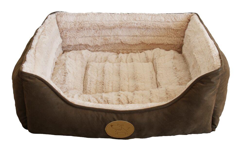 Square Bolster Dog Bed (Set of 6) Size: Medium - 22