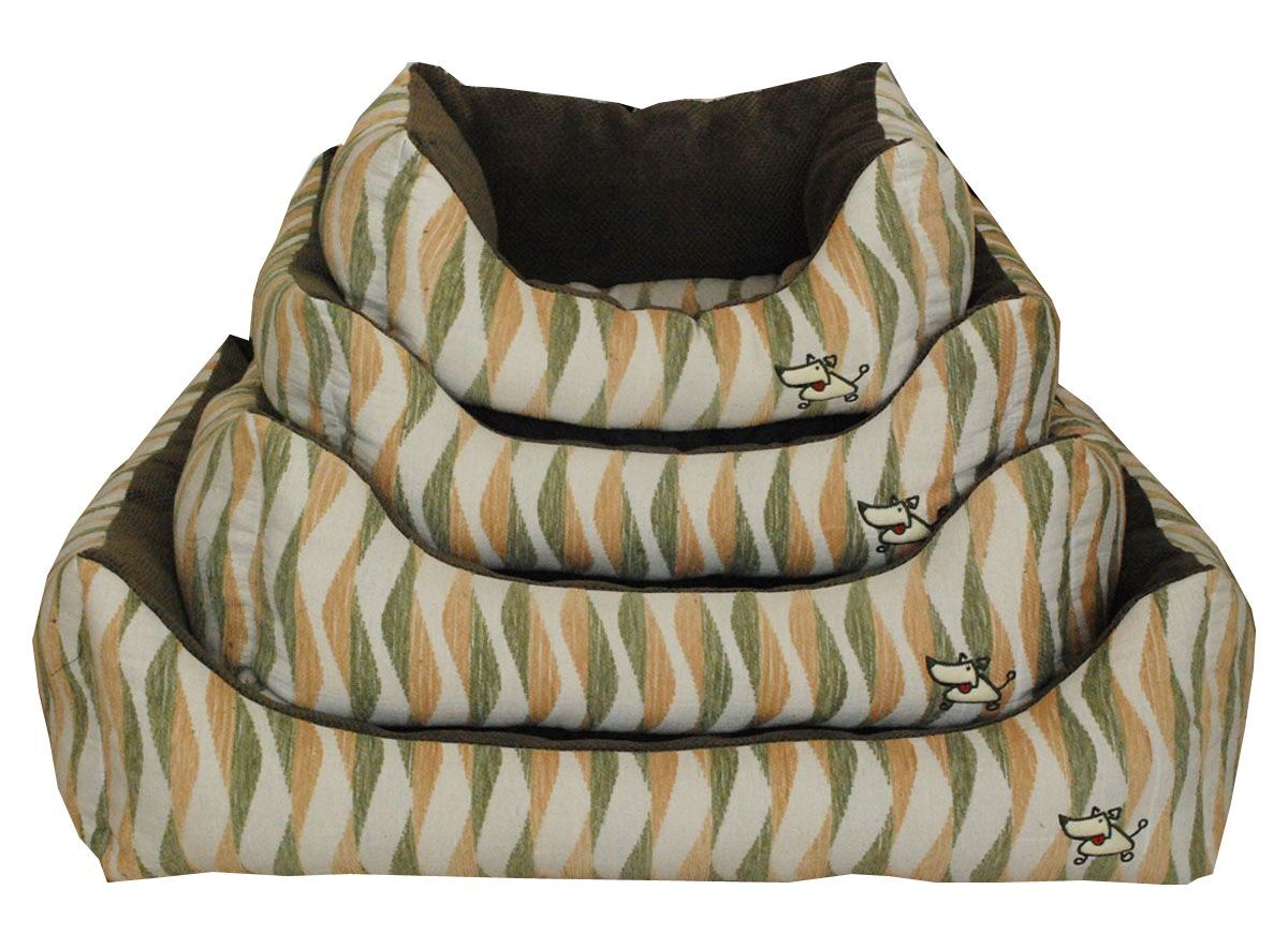 Waves Bolster Dog Bed Size: Small (18