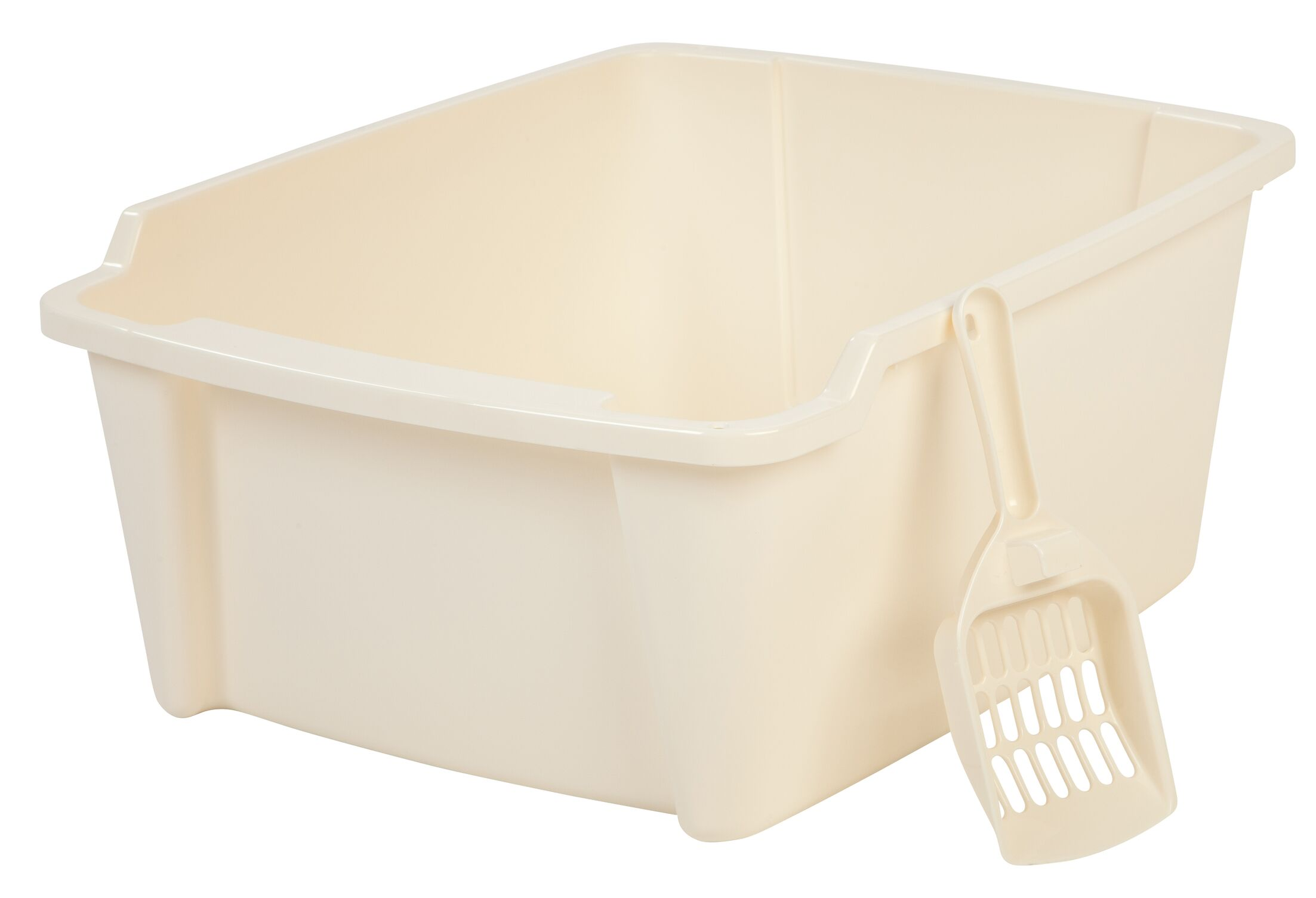 Randolph High Sided with Scoop Litter Pan Color: Ivory