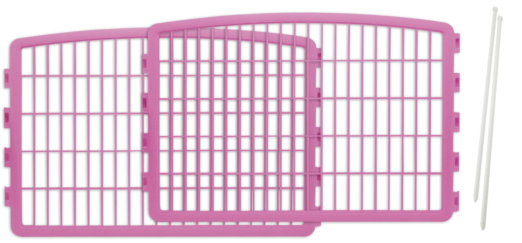 Moris Expansion Kit for Indoor/Outdoor Plastic Pet Pen Color: Pink