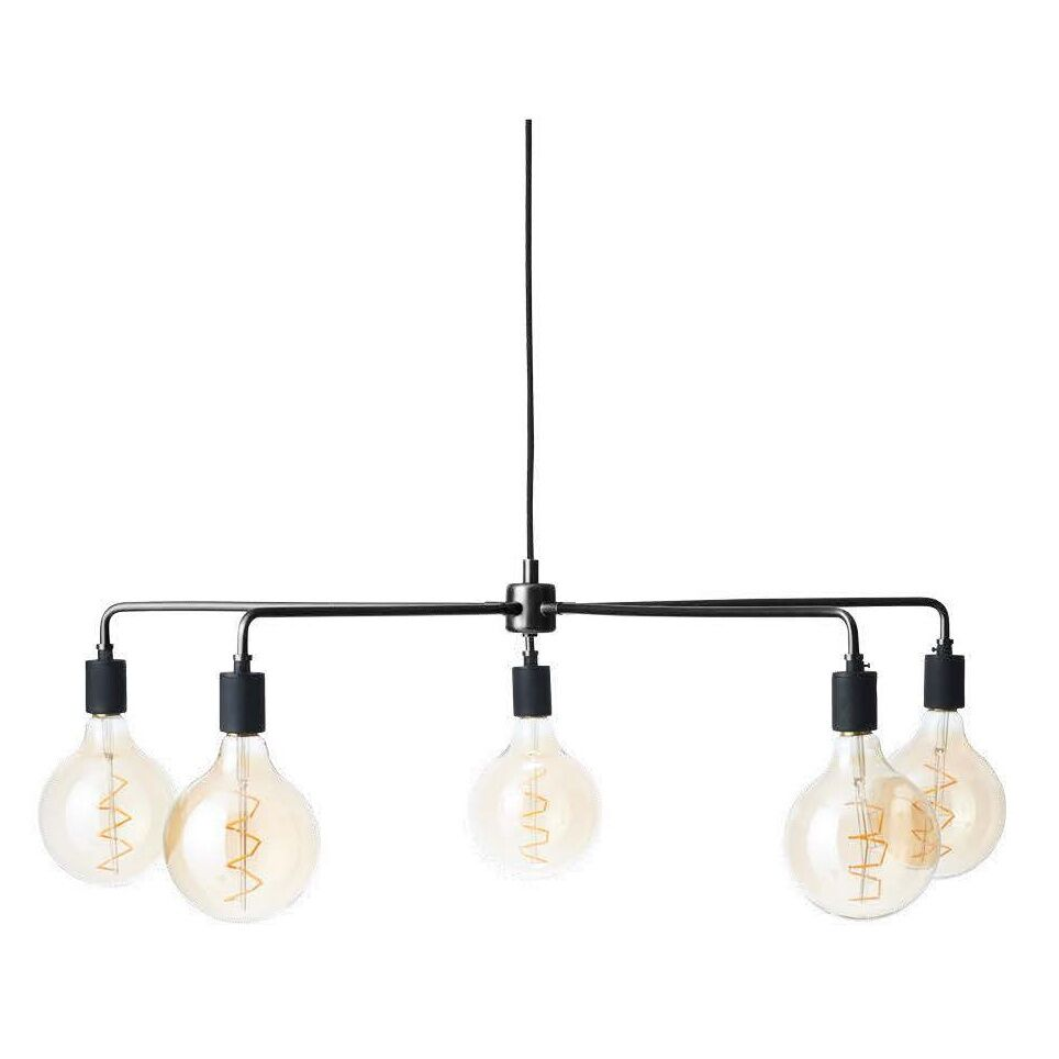 Tribeca Chambers 5-Light Candle Style Chandelier Finish: Black, Size: 30