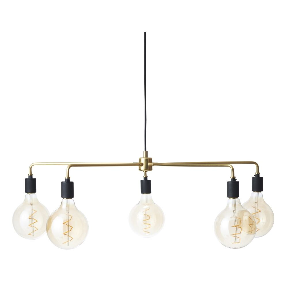 Tribeca Chambers 5-Light Candle Style Chandelier Finish: Brushed Brass, Size: 30