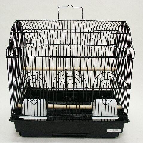 Barn Top Bird Cage Color: Black