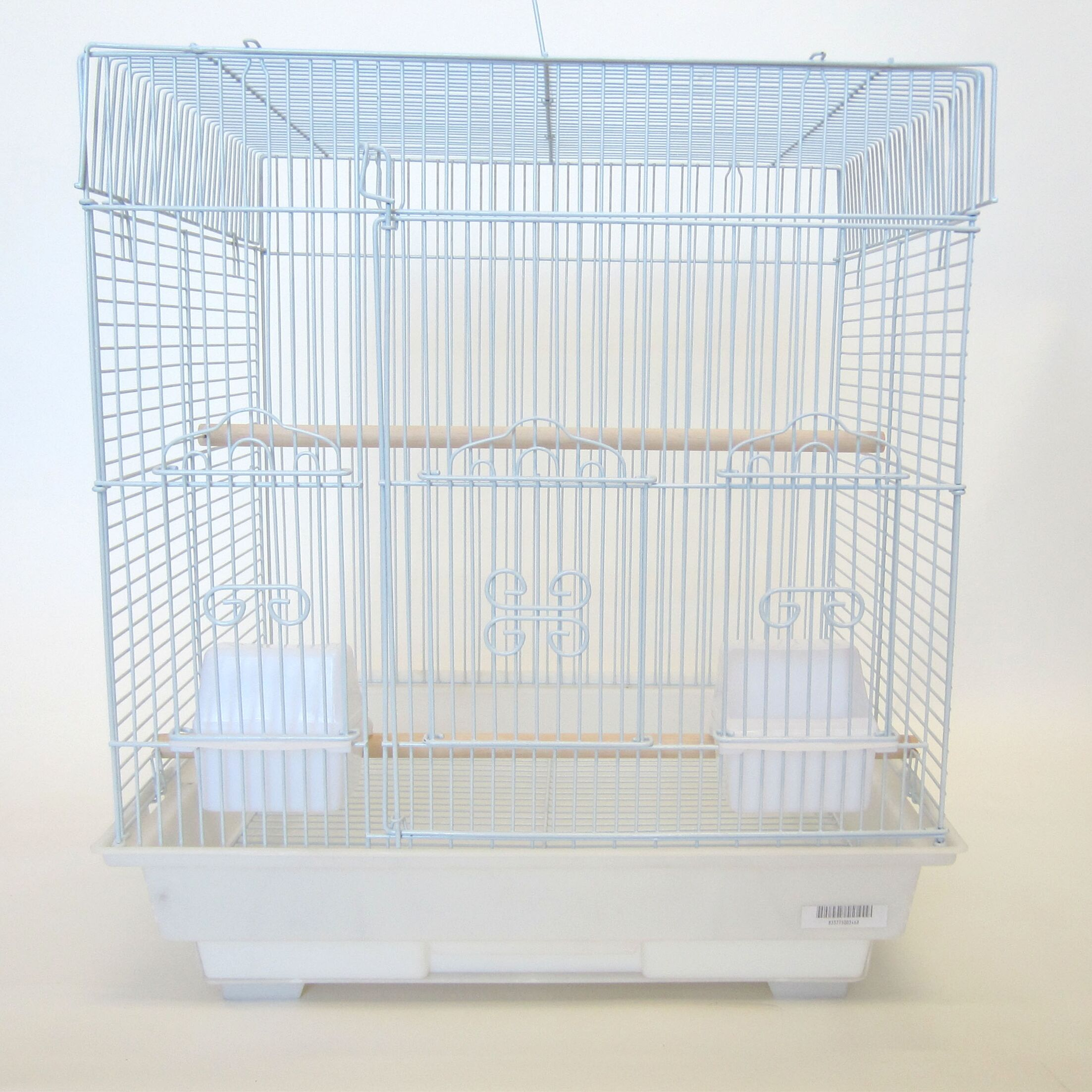 Square Flat Top Small  Bird Cage Color: White