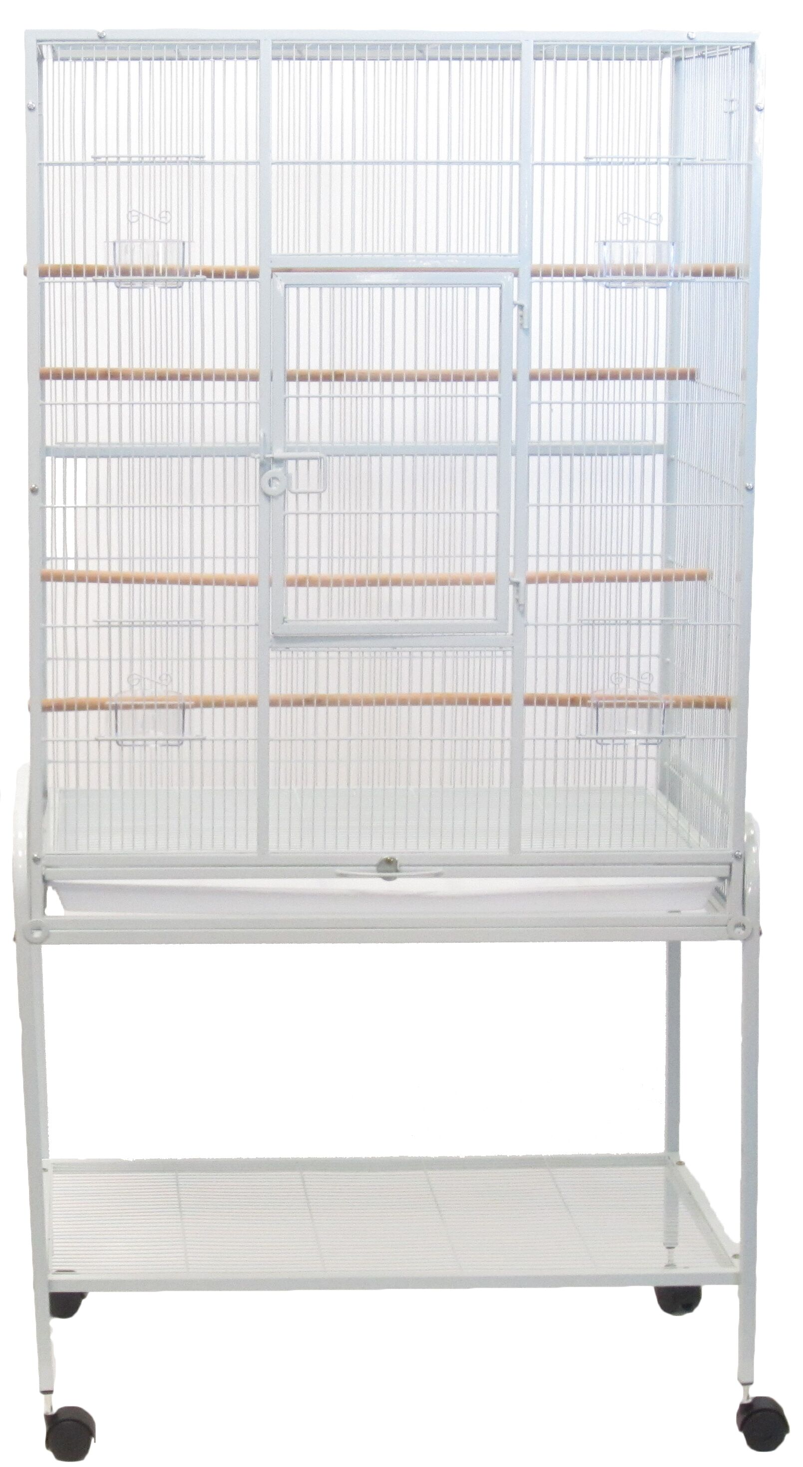 Bird Aviary with Stand Color: White