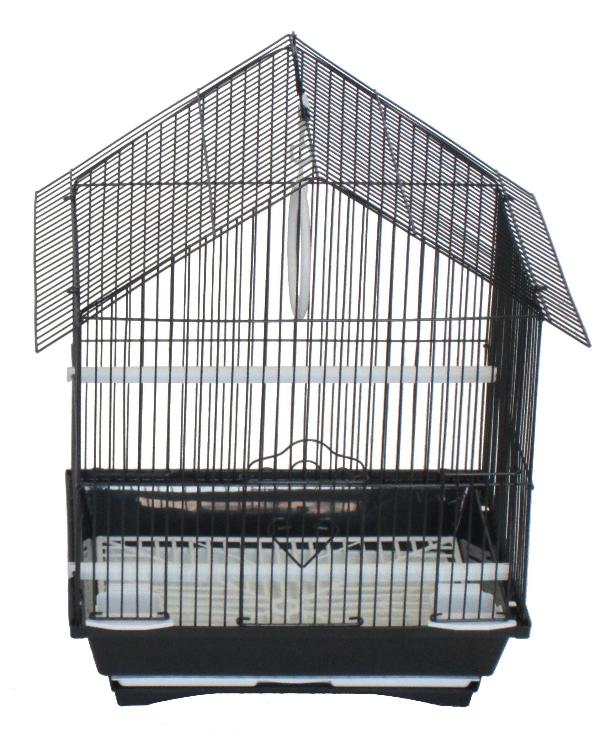 House Top Style Small Parakeet Cage Color: Black