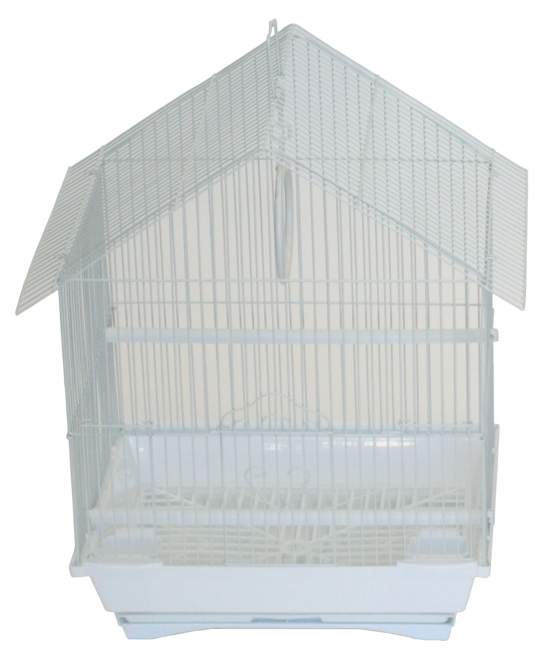 Jepsen House Top Style Small Parakeet Cage With Food Access Doors Color: White