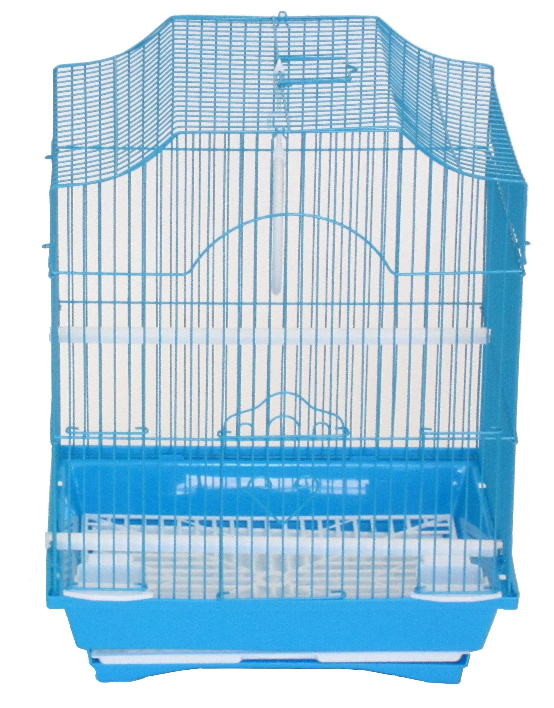 Iglesias Cornerless Flat Top Bird Cage Color: Blue