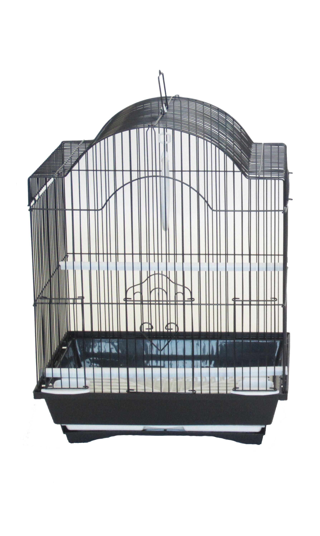 Opus Cornerless Round Top Shape Bird Cage Color: Black
