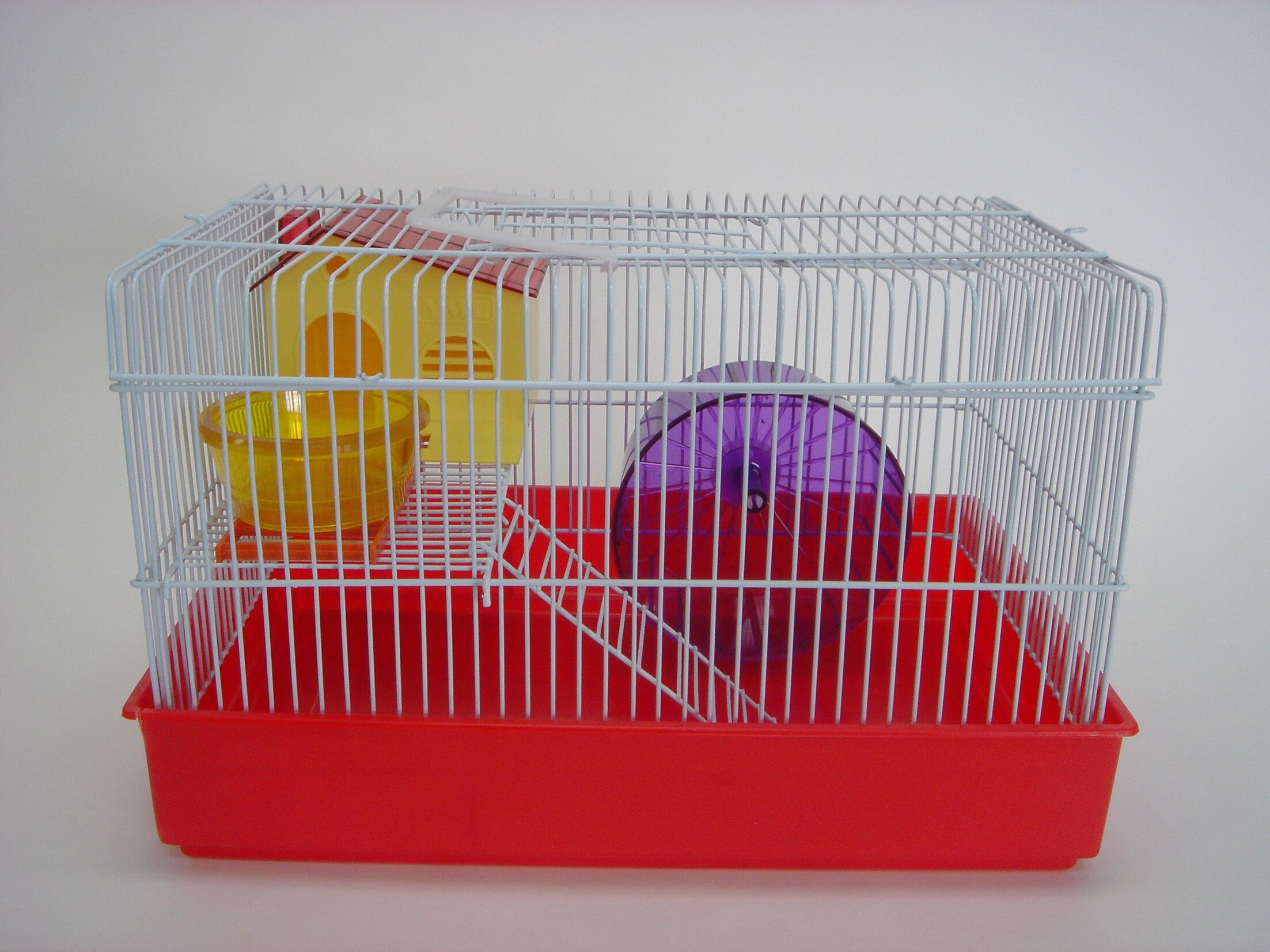 2-Level Small Animal Cage Color: Red