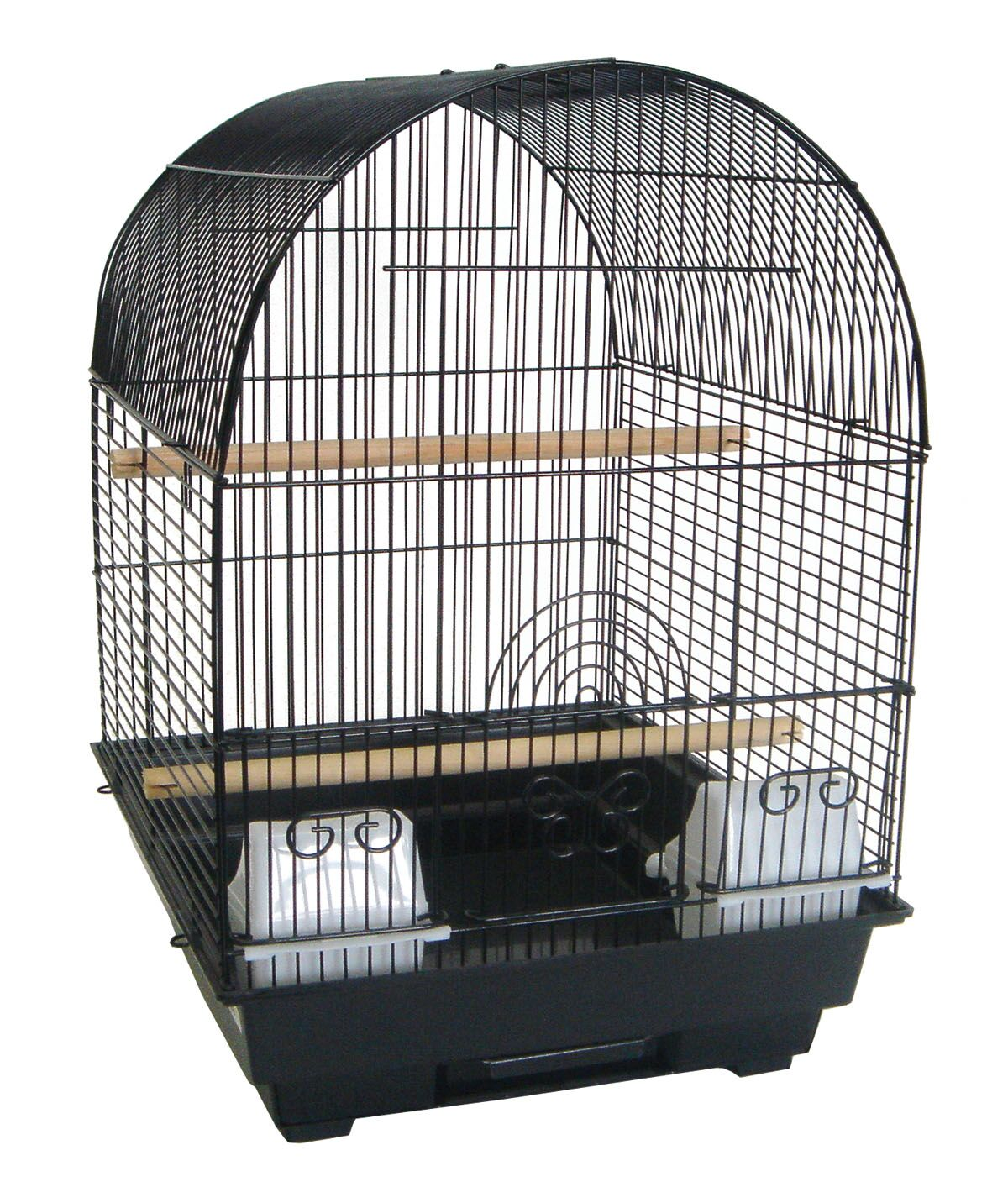 Round Dome Top Bird Cage Color: Black