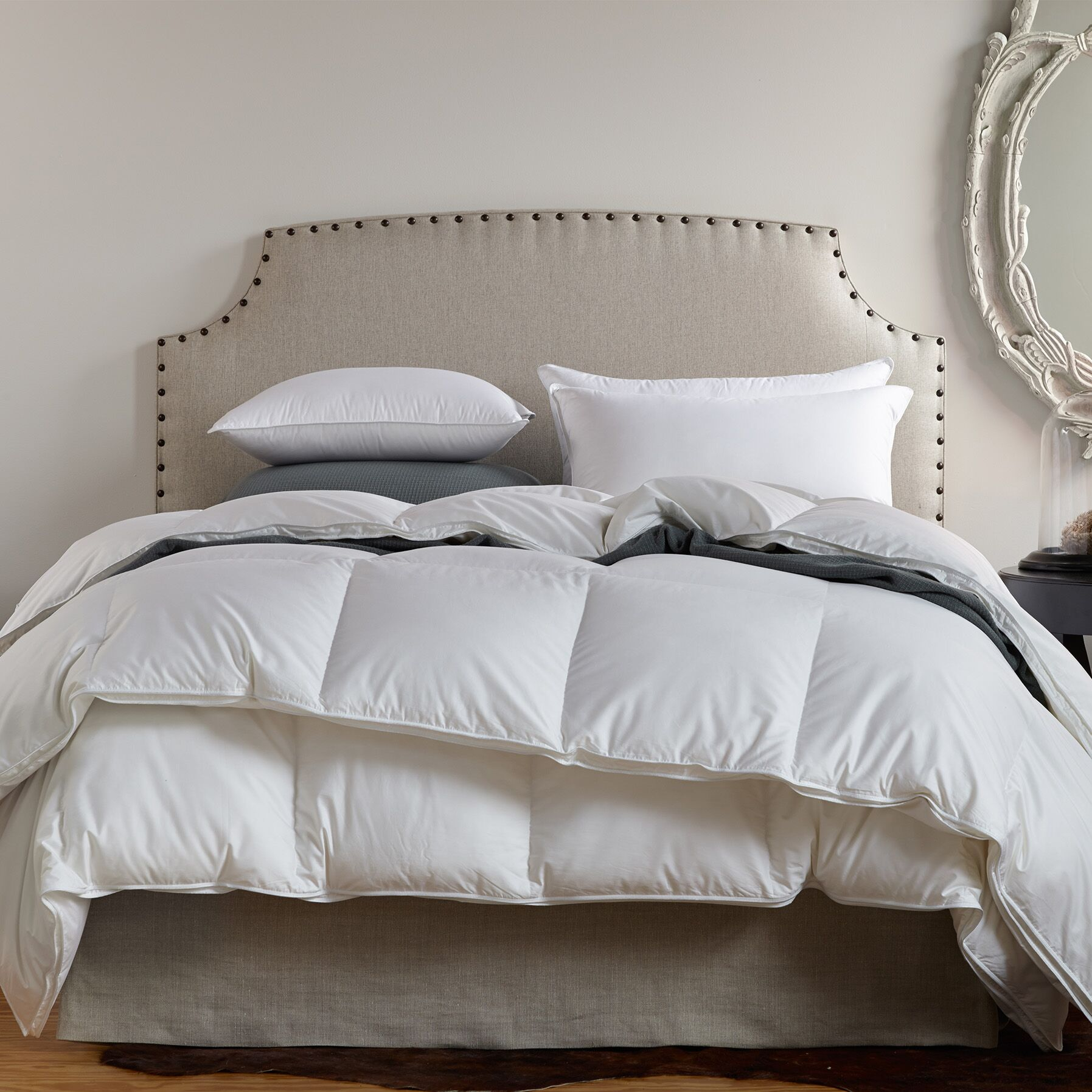Filled Fall Midweight Down Duvet Insert Size: Oversized King
