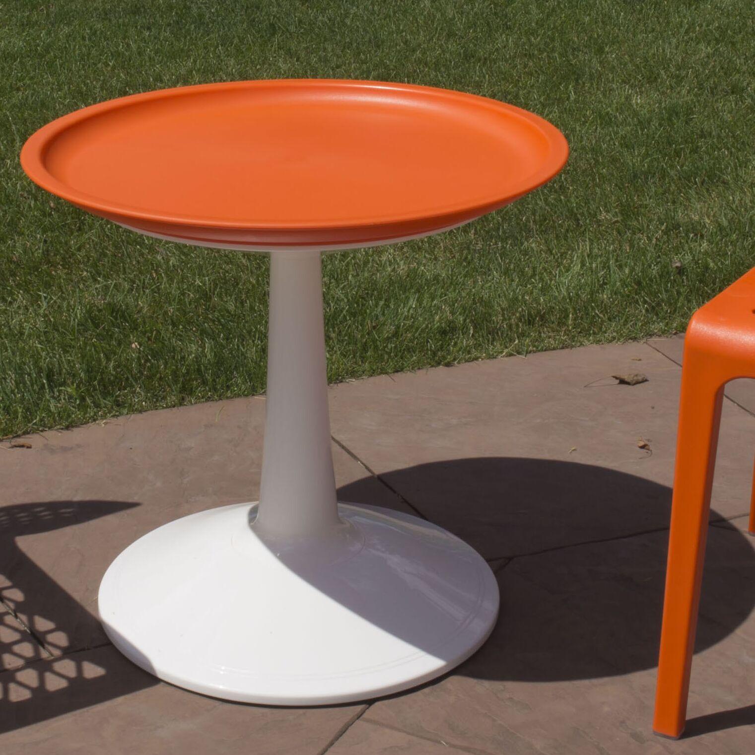 Glocester Bistro Table Color: Orange