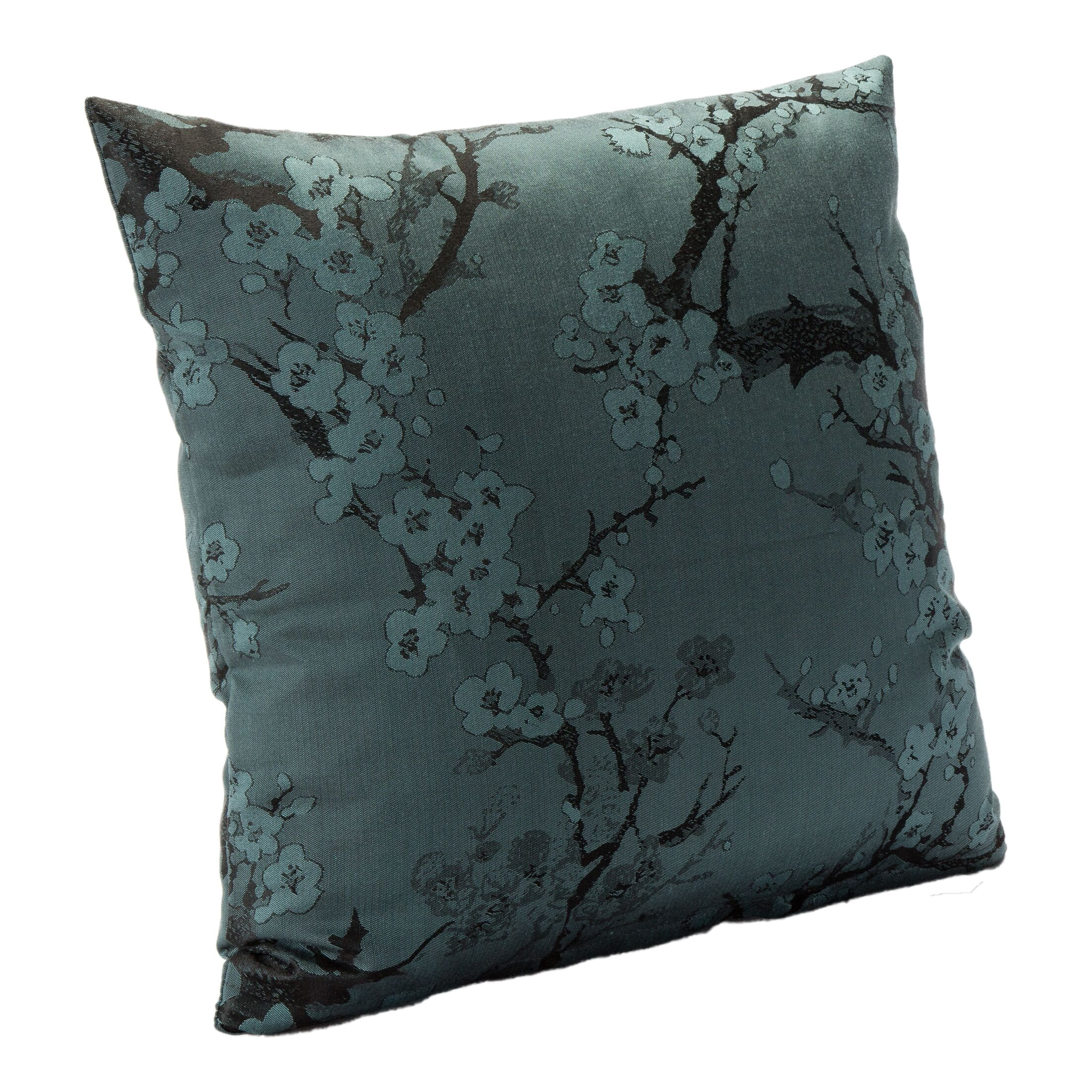 Bryant Throw Pillow Color: Azure, Size: 26