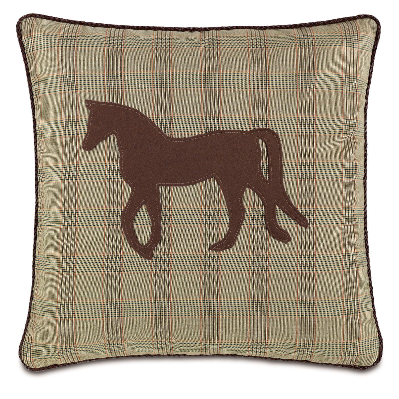 Equestrian Mustang Throw Pillow